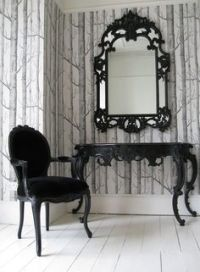 Victorian Gothic Antique Vanity with Tri-Fold Mirror ...