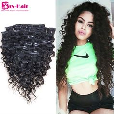 abhair cheap real african american short clip in remy human hair extensions 14 inch black russet