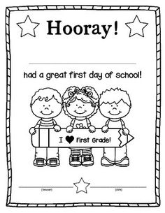 Hope you enjoy this free first day of school certificate