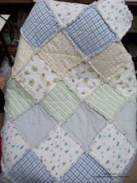 easy baby quilt made from old receiving blankets