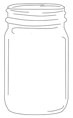 Jar pattern. Use the printable outline for crafts
