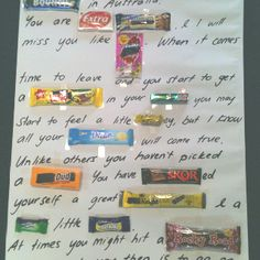 Chocolate Bar Message Posters On Pinterest Candy Posters
