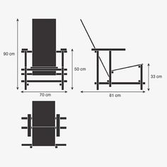 Gerrit Rietveld Red and Blue Chair plans. http://sites