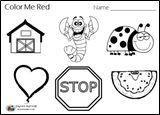 Color Red, Color Red Worksheet, Color Red Preschool, Red