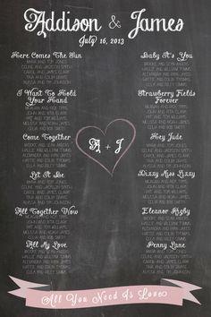 Chalkboard Wedding S