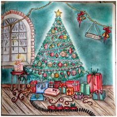 1000 Images About Johannas Christmas Coloring Book On
