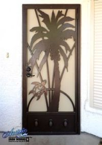 Wrought iron entry gate and porch enclosure   Wrought Iron ...