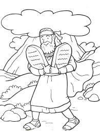 Ten Commandments Coloring Page for Third Commandment Thou