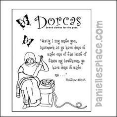The Story of Dorcas- coloring page, audio Bible story and