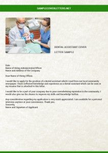 Registered Dental Assistant Cover Letter  Resume Writing and Editing Services  Dental