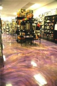 Crazy looking Fire Lava Floor, done with Metallic Epoxy ...