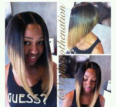 Razor Cut Ombre Bob Hairstyle Urban Hairstyles ● Natural Hair