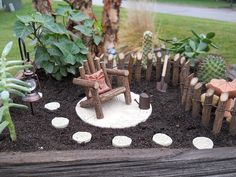Miniature Fairy Garden In The Box Size Of A Shoe Box Brownies