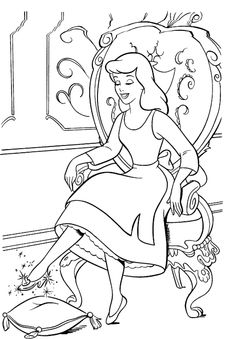 1000+ images about disney cinderella coloring on Pinterest