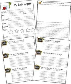 1st grade books, Book reports and Grade books on Pinterest