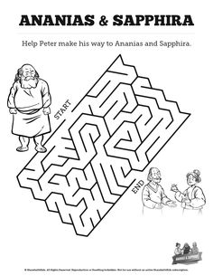 Acts 8 Philip and the Ethiopian Bible Mazes: Can your kids