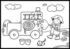 Het bruisende brandweerspel voor kleuters, spelbord