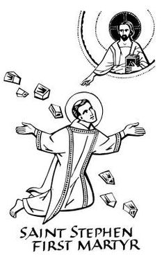 Saint Stephen Coloring Page Sketch Coloring Page