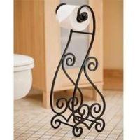 Iron Artistica Climbing Vine Standing Toilet Tissue Holder ...