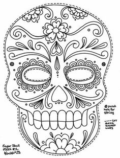 Simple sugar, Sugar skull and Skulls on Pinterest