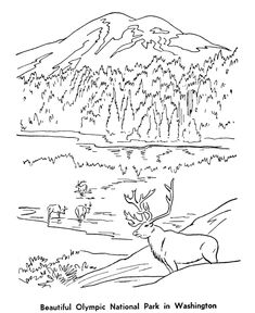 Printable mountain coloring page. Free PDF download at