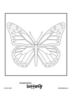 Painted Lady butterfly life cycle and coloring pages