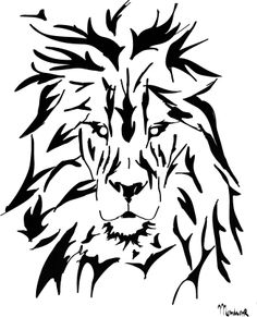 New Lion Airbrush Stencil Template Pattern DIY Paint Home