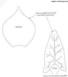 Flower petal pattern. Use the printable outline for crafts