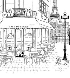 1000+ images about Paris colouring and doodling journal on