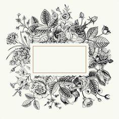 Flower clip art, vintage lavender, botanical flowers