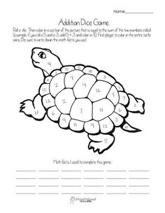 Free Printable Turtle Colour By Numbers Activity For Kids