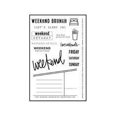 planner agenda weekly template free printable for bullet