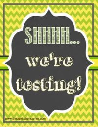Testing Signs: Need a cute sign for testing? This freebie