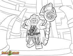 Printable coloring page for LEGO Ninjago Cole Fighting