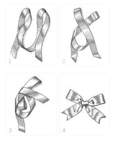 How to tie a perfect bow with favor ribbon. Simple, step