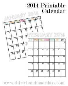 An easy-to-edit 2014 Calendar Template for Excel