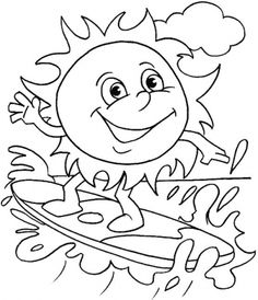 1000+ images about Summer Coloring Pages on Pinterest