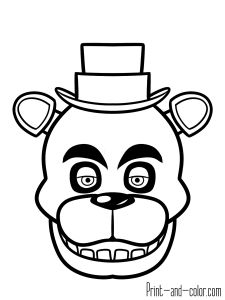 Five Nights At Freddy S Coloring Pages Black And White