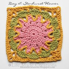 """Ravelry Project Gallery For Harlequin Shells 12"""" Crochet Square"""
