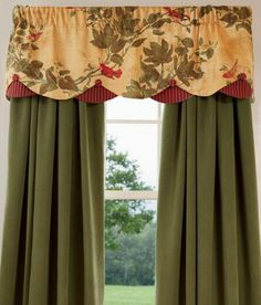 Chic Valances Window Treatments In Dining Room