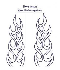 flame template, not as easy to draw free-hand as i thought