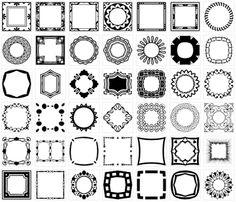 Divider & Page Decoration Vectors Designs Brushes, Shapes