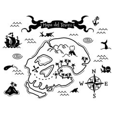 a pirate's treasure map for the wall, great idea for a