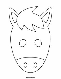 Printable Animal Masks: Cat Mask Cat Mask Coloring Page