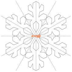 Printable snowflake templates to create beautiful crafts
