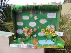 Shoebox Kids Craft Garden Woodland Countryside Outdoor Scene