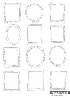 Gezeichnete Rahmen, Tapete, Upcycling, DIY, Edding, Marker