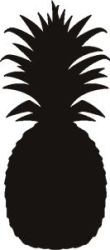 pineapple silhouette clipart stencil vector template outline clip shapes svg printable shape silhouettes print vinyl stencils wst sku simple clipartpanda