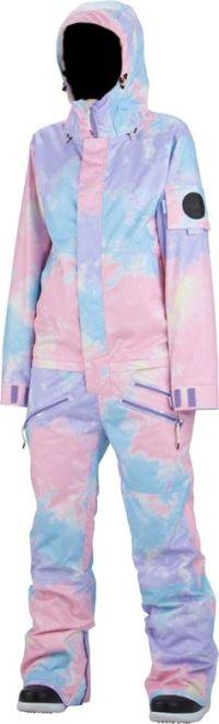 Pink overall, vintage snowsuit, pink snowsuit, women ski ...