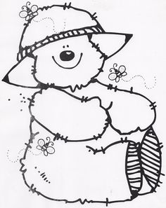 Funny Apple with Pencil coloring page for kids, back to